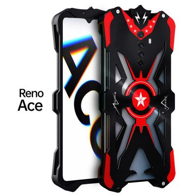 SIMON Upgraded Version Aluminum Alloy Metal Frame Bumper Cover Case For OPPO Reno Ace