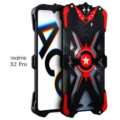 SIMON Upgraded Version Aluminum Alloy Metal Frame Bumper Cover Case For Realme X2 Pro