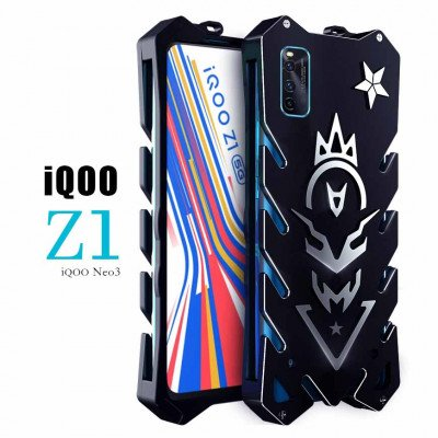 SIMON Cool Aluminum Alloy Metal Frame Bumper Cover Case For ViVO iQOO Z1