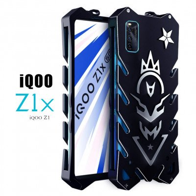 SIMON Cool Aluminum Alloy Metal Frame Bumper Cover Case For ViVO iQOO Z1x