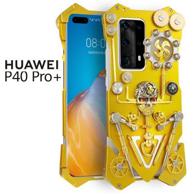 Simon Gothic Steampunk Mechanical Gear Metal Case For HUAWEI P40 Pro+