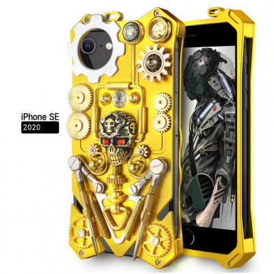 Simon Gothic Steampunk Mechanical Gear Metal Case For iPhone 6/7/8/iPhone SE 2020