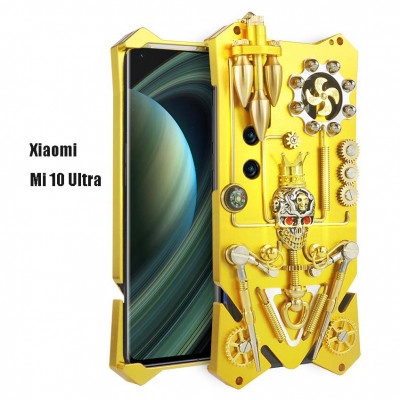 Simon Gothic Steampunk Mechanical Gear Metal Case For Xiaomi Mi 10 Ultra