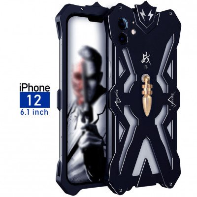 SIMON Mars Aluminum Alloy Metal Frame Bumper Cover Case For iPhone 12/12 Pro/12 Pro Max/12 Mini