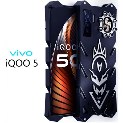 SIMON New Cool Aluminum Alloy Metal Frame Bumper Cover Case For VIVO iQOO 5/5 Pro
