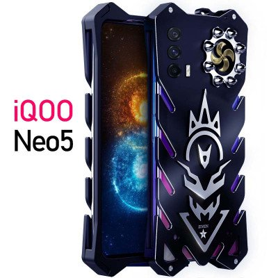 SIMON New Cool Aluminum Alloy Metal Frame Bumper Cover Case For VIVO iQOO Neo 5