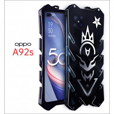 SIMON New Style Cool Aluminum Alloy Metal Frame Bumper Cover Case For OPPO A92S