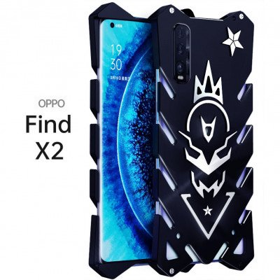 SIMON New Style Cool Aluminum Alloy Metal Frame Bumper Cover Case For OPPO Find X2/X2 Pro