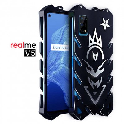 SIMON New Style Cool Aluminum Alloy Metal Frame Bumper Cover Case For Realme V5