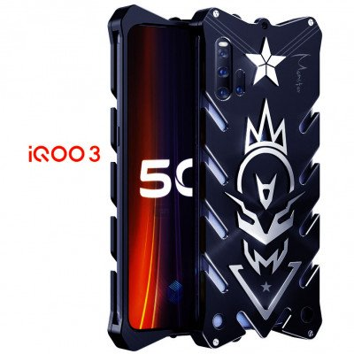 SIMON New Style Cool Aluminum Alloy Metal Frame Bumper Cover Case For ViVO iQOO 3