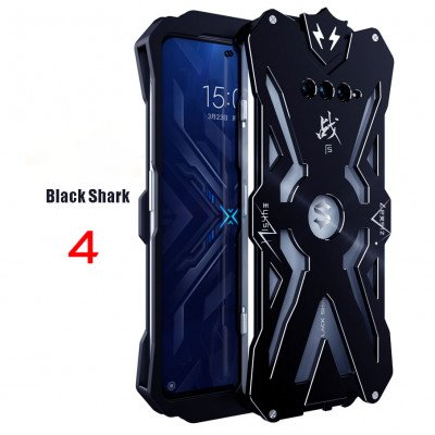 SIMON THOR Shockproof Metal Case Cover Support Gamepad For XIAOMI Black Shark 4/4 Pro