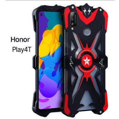 SIMON Upgraded Version Aluminum Alloy Metal Frame Bumper Cover Case For HUAWEI Honor Play 4T