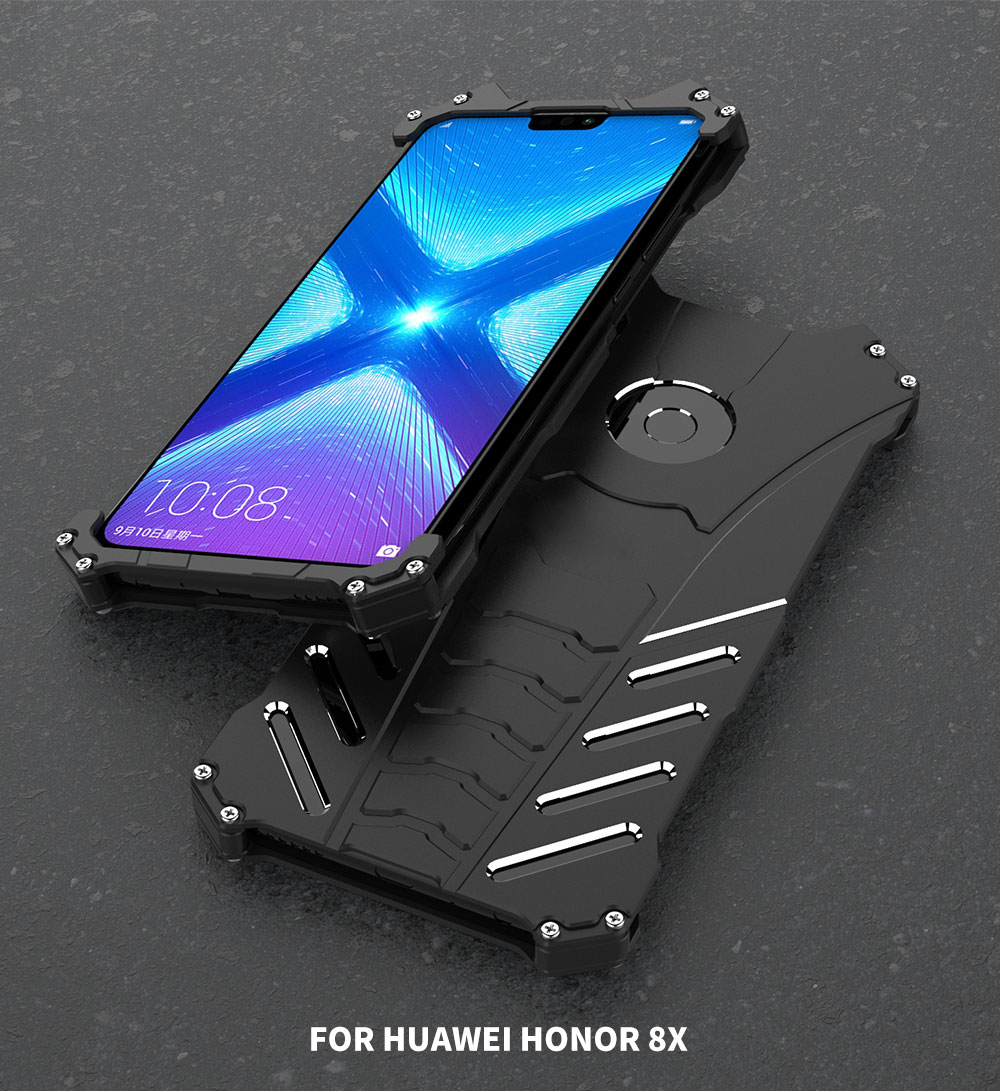 R-Just Shockproof Aluminum Alloy Metal Protective Case For Huawei Honor 8X