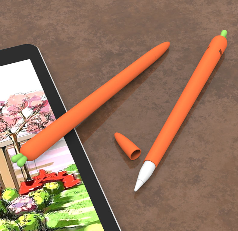 Carrot Silicone Pencil Case